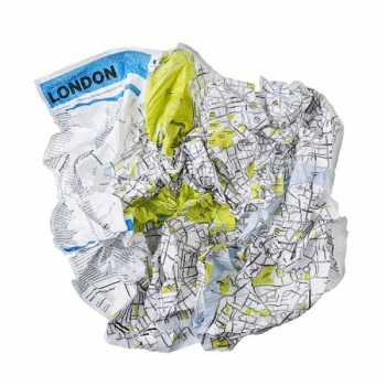 Мятая карта