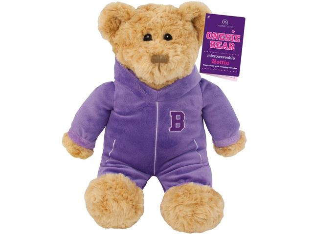игрушка грелка мишка фиолетовый