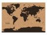 Пробковая карта мира cork map