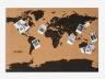 Пробковая карта мира новая