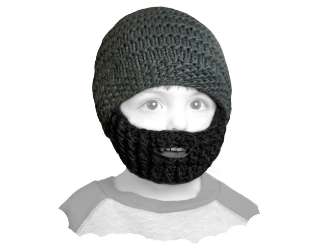 Шапка Beardo детская темно серая с черной
