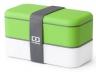 Ланч бокс MB original зеленый белый