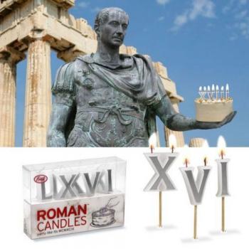 Свечи из римских цифр