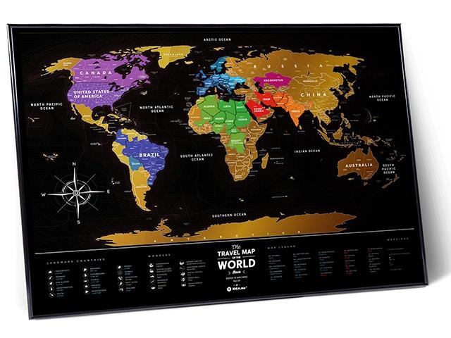 Travel map черная