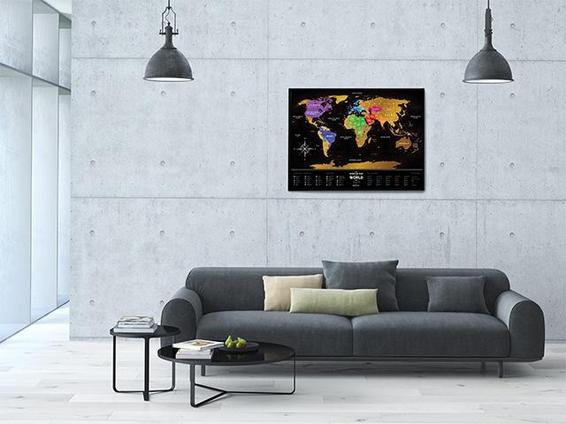 Скретч карта Black в интерьере