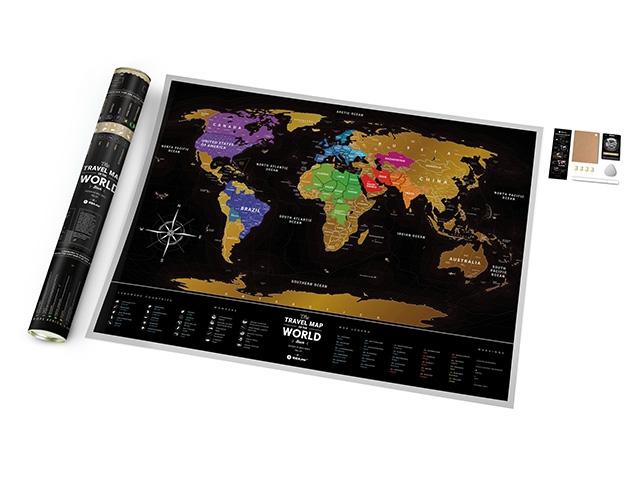 Скретч карта Black перспектива