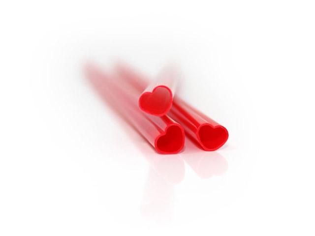 Трубочки для молока Hearts