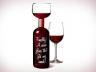 Бокал для вина в виде бутылки