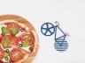 Нож для пиццы Fixie синий