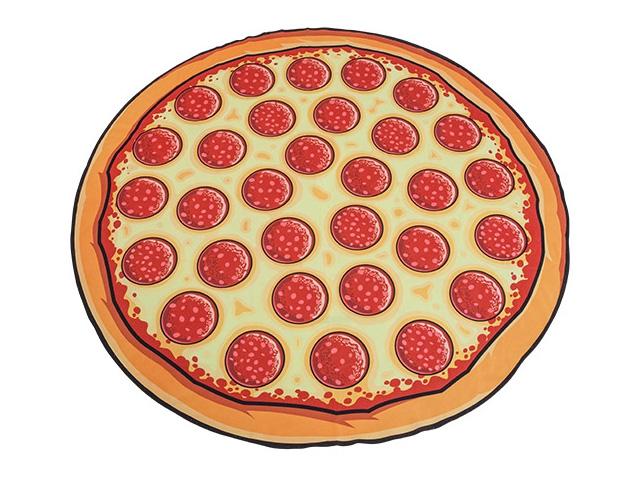 Пляжное полотенце пицца фото
