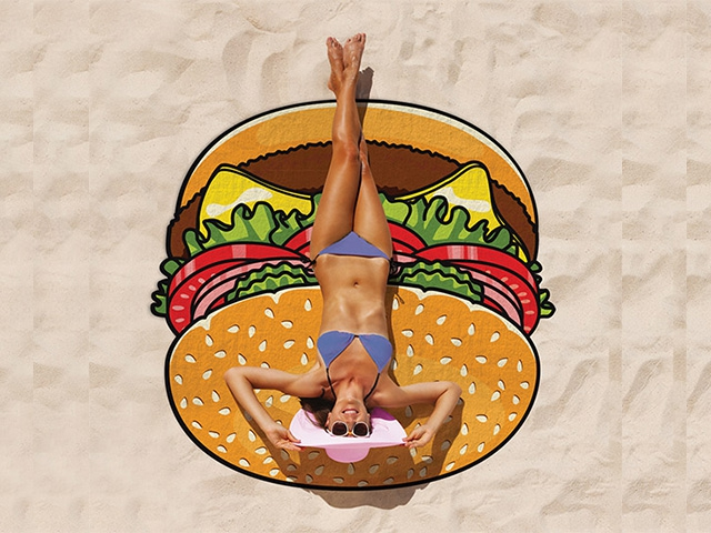 Пляжное полотенце гамбургер