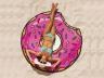 Пляжное полотенце пончик