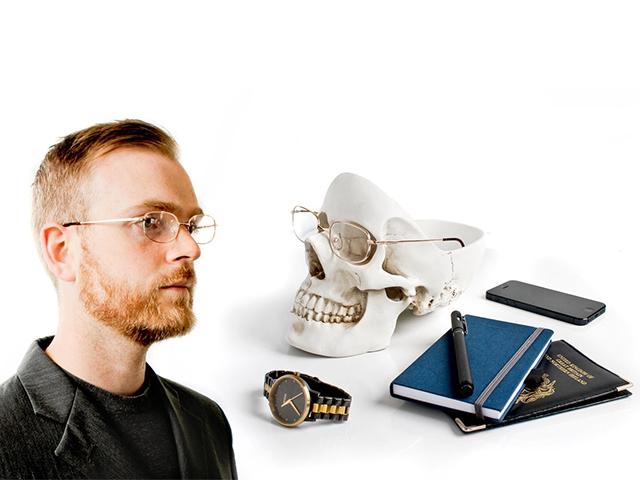 Органайзер Skull для мелочей белый