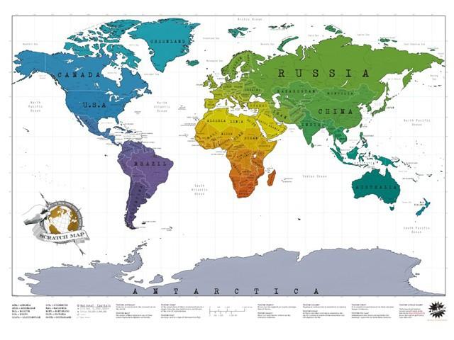 карта путешественника весь мир