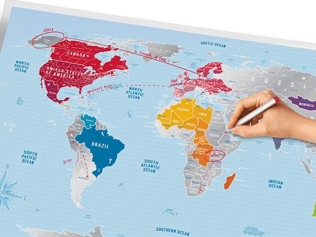 Карта мира Silver 2