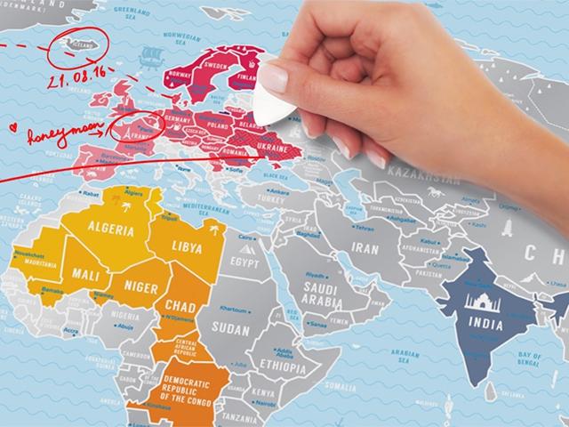 Карта мира Silver 3