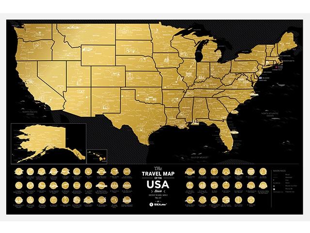Скретч карта США