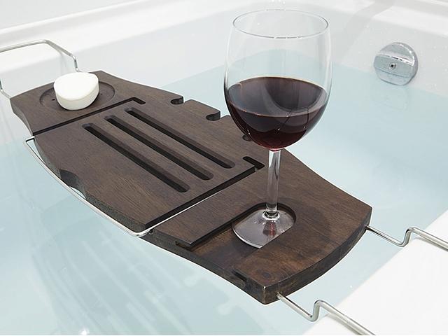 Полка для ванны орех