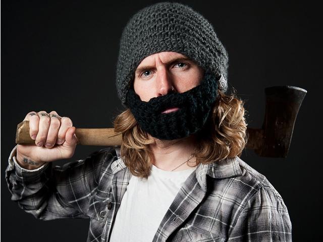 вязаная шапка с бородой Beardo купить в спб и москве