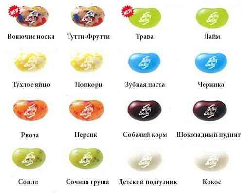 bean boozled вкусы на русском