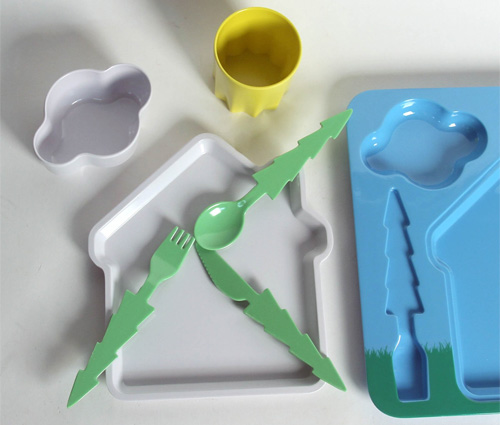 набор детской посуды фото