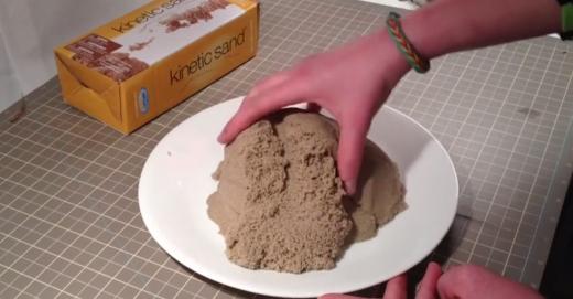 как выглядит 1 кг кинетического песка (kinetic sand)