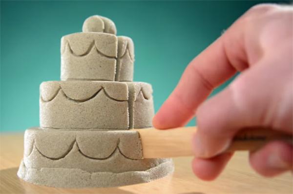 торт из кинетического песка