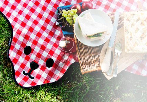 коврик для пикника bear skin красный