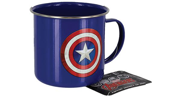 кружка капитан америка металлическая