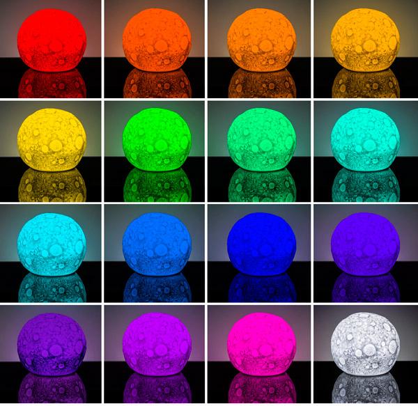 светильник луна меняет цвет