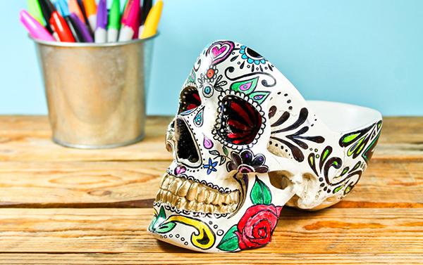 органайзер skull разрисованный