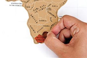 подарок стирательная карта путешественника