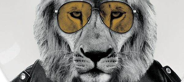 тарелки с животными лев
