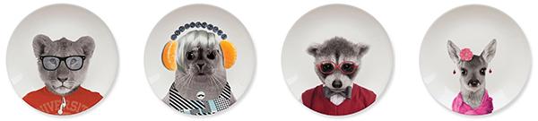 тарелки с животными маленькие